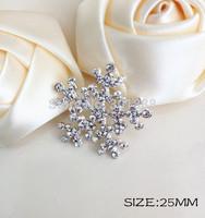 Free shipping,100PCS/LOT 25MM flatback rhinestone button snowflake for Christmas diy bling accessories QYQ010