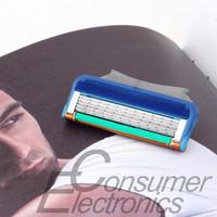 4Pcs Portable 5-Blade System Sharpener Blades Shaver Razor for Men Newest