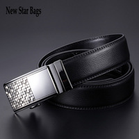 Hot sales Man Genuine leather belt Automatic buckle cowhide belt Brand designer luxury Cintos .S15E