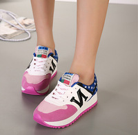 Women Fashion Sneaker Shoes Flat With Spring/Autumn Casual Shoes Boots Breathable Lace-Up Shoes