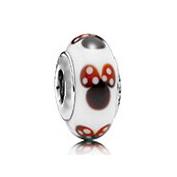 PGS134 High-quality Minnie glass charm, screw thread design inside