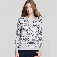 casual loose moleton feminino 2015 female cute sweatshirts O-neck long sleeve individualized emoji sweatshirt women C659