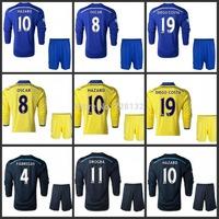 2015 Chelsea Home/away/3rd long sleeve full set Football Jersey kits, 2015 chelsea set HAZARD DROGBA DIEGO COSTA OSCAR FABREGAS