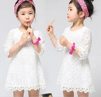 New Designer Children Casual Dress Korean children's clothing summer baby lace dress child dress Kids girls mini dress LJ175XGJ
