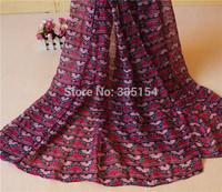2015 Women Geometry Pattern Scarf Triangle Pattern Scarf Fashion Cotton Voile Scarf 5PCS/lot FREE SHIPPING