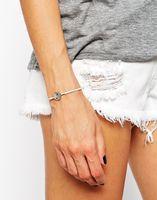 New arrival! high quality 2015 new Gossip gems Leather weave  rivet  bracelets & bangles free shipping SL-049
