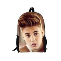Justin Bieber bag New character Backpack,Men's Backpack,Printing Backpack Schoolbag College School Backpacks boys Justin Bieber