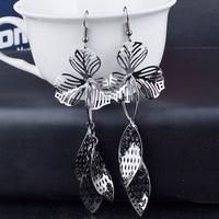 Fashion Hot Sale New Styl Bohemia Gold /Silver Hollow Leaf Flower Earrings