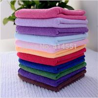 Hot Sale Wholesale 10pcs Square Luxury Soft Fiber Cotton Face/Hand Car Cloth Towel 25*25cm House Cleaning