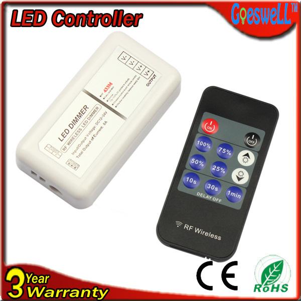 RGB контролер Led strip dimmer DC12V/24v 8A 192 11key RF Wireless led dimmer