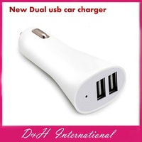 New high quality  LED light Dual  USB Car Charger Adapter for Mobile  Phone iphone  tabelt pc