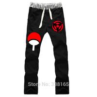 NEW Naruto Uchiha Sasuke The Sharingan Cosplay Trousers cotton loose sport pants Anime peripheral for men&women