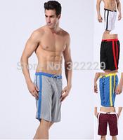 Men's quick-drying shorts men's casual shorts five shorts black / white men to sports shorts