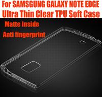 100pc/lot DHL Free Silicone Cover for SAMSGUNG GALAXY NOTE EDGE 0.6mm Ultra Thin matte inside Clear TPU Gel Case NO: NE01