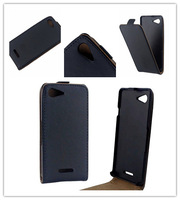 High Quality Black Vertical Leather Magnetic Case For Sony Xperia E3 D2203 stand case +free gift +Free Shipping