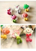 Cute Cartoon sucker toothbrush holder / suction hooks 5pcs/lot Drop shipping B26