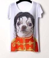 Promotion! new casual rock short t shirt feminina 3d print tops Hepburn Monroe camisetas
