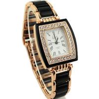 High-end Female Dress Quartz Watches New Roman Ladies Bracelet Wristwatches Stylish Alloy Rhinestone Decoration Watch
