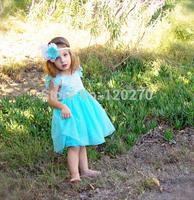 Free Shipping Summer Baby Girls Frozen ELSA Princess Vest Dress Chiffon Sundress Infant Toddler Children's Tutu Dress Ball Gown