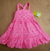 Limited Time Special girls cotton rose red dress Children's Summer Floral Dress