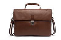 new 2014 hot sale fashion men bags, men genuine leather messenger bag, high quality man brand business bag DHL Free Shipping