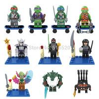 Bela TMNT Teenage Mutant Ninja Turtles Action Figures 10pcs/lot Building Blocks Sets Model Minifigure Bricks Toys For Children