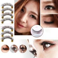 10 Pairs Natural False Eyelashes Eye Lashes Long Makeup Handmade Fake Eye Lashes