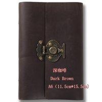New arrival handmade cowhide ben loose-leaf a6 cowhide vase lock notepad genuine leather vintage fashion notebook