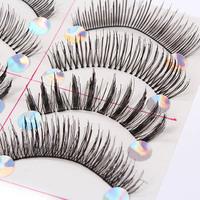 10 Pairs Wispy Thicken Mix Handmade Natural False Eyelashes Long Fake Lashes