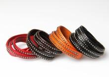 4 color korean fashion high quality leather love braclets for women men punk rock wristband vintage pulseira de couro