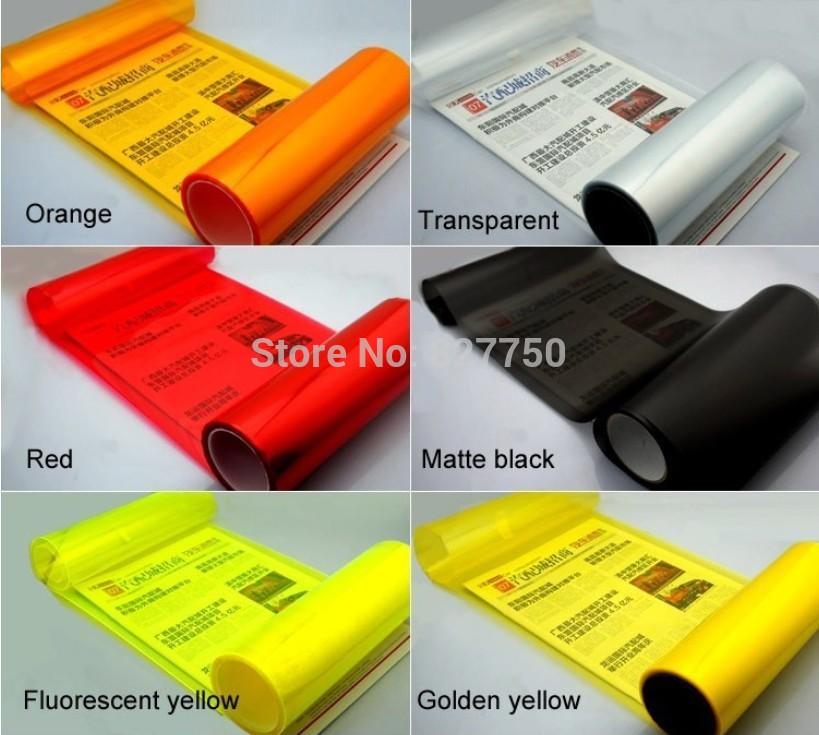 30cm*100cm Waterproof Auto Car Sticker Smoke Fog Light HeadLight Taillight Tint Vinyl Film Sheet 12 colors car decoration decals(China (Mainland))