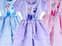 Retail,New very beautiful Girl Dress frozen cartoon Princess girls baby Dresses