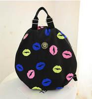 Women's 2014 Lips Hit-color Backpacks European And American Fashion Hot School Bag 6Colors Shoulder Bag Beach Tourism Bag 645e