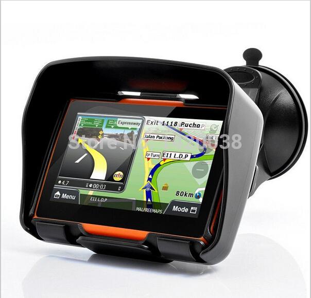 "4.3""TFT Touch Screen gps professional Waterproof Bluetooth Motorcycle GPS Navigator 4GB Internal Memory free Map EU AU UK(China (Mainland))"