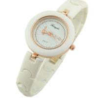 New Fashion White Note Plastic Bracelet Watches Elegant Upgrade Ladies Dress Quartz Wristwatches Stylish Casual Watch
