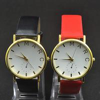 2014 nes wholesale sale promotion Luxury Famous M Design Brand MJ for Women men Leather Watch,Fashion Quartz Watch 00088