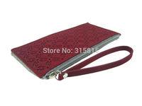 Women Casual Coins Purse Handbag Ladies Felt Clutch Wallets with Strap
