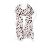 2015 Spring Girls Heart Print Scarf Women Cute Heart Print Cotton Voile Scarves 5pcs/lot Freeshipping