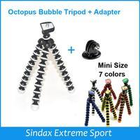 Mini Flexible Camera Tripod Octopus Bubble Tripod with Mount Adapter for  Go Pro Hero 4 3+ 3 2 HD SJ4000 Camera Accessories