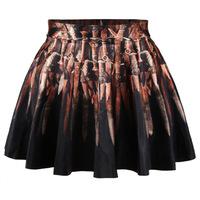2014 speed sell tong eaby selling 3 d India digital printing new short skirt woman saias femininas saia longa free shipping