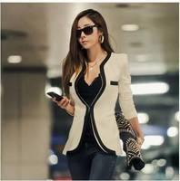 AliExpress 2014 authentic Korean winter Slim Hitz Korean version of casual dress in black and white suit