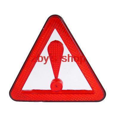 Plastic Road Block Emergency Reflection Traffic Warning Triangle Red(China (Mainland))