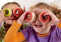 2pcs Magic Wood Kaleidoscope Baby Toy Bee Eye Effect Polygon Prism Toys for Kids