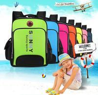 Free shipping Schoolbag 1-3-6 grade boys and girls / children backpack shoulder burdens schoolbag Korea / Wholesale C33