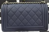 2014 brand name lady real leather BOY CC Flap Bag fashion shoulder bag NO.A67025-smooth
