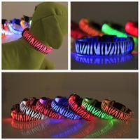 New zebra led pet collar, LED fashion dog collar pet products, cat dog leash dog accessories, led dog collar, 3pcs wholesale