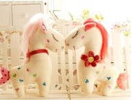 Lovely Chinese horse with hair Fall in love horses Chinese traditional mascot Stuffed toy horses