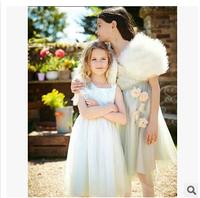 Wholesale WL-MONSOON brand summer new girls flower veil dress girl lace princess dress 7pcs/lot