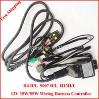 Free Shipping HID Xenon Headlight H4Hi/lo 9007Hi/Lo, H13Hi/Lo wiring Harness Controller