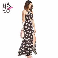 new fashion women print  neckline cross tube top cutout placketing  dress,women wear, lady party dress